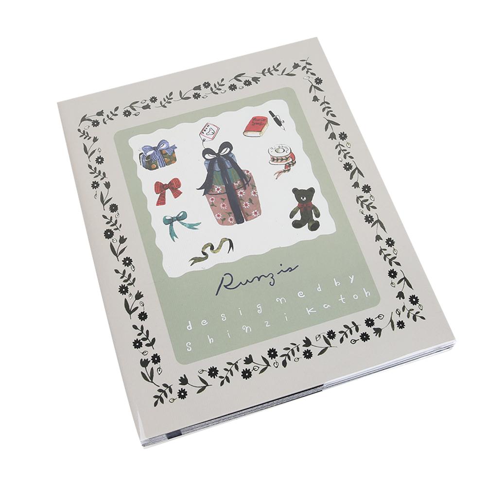 신지가토 대용량 접착식앨범 블랙내지, 기프트, 25매
