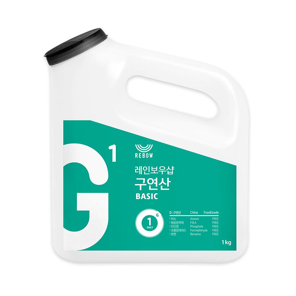 레인보우샵 G1 구연산 베이직 왕톡톡이, 1kg, 1개