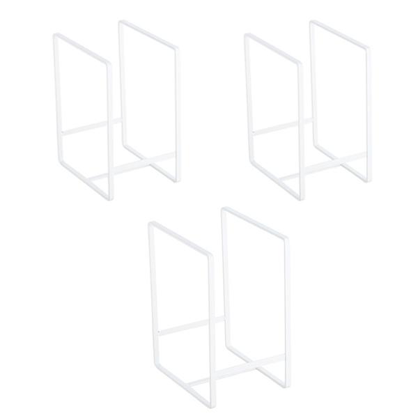 블럭마트 주방 심플 스텐 접시꽂이 접시정리대 3p, 화이트