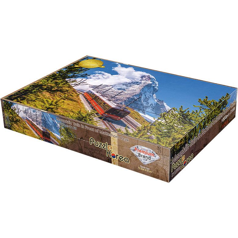 퍼즐코리아 스위스 산맥의 풍경 직소퍼즐, 1000피스, 혼합 색상