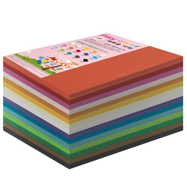 종이문화 플레이칼라 180g 15색 혼합, 400매