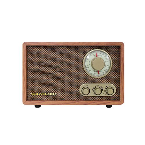 사운드룩 레트로 블루투스 스피커 라디오 플레이어, SL-BR100, 혼합 색상