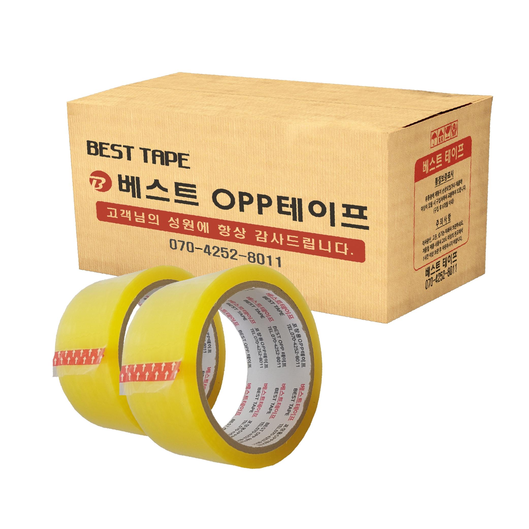 베스트 OPP 테이프 48mm x 40m, 투명, 30개입