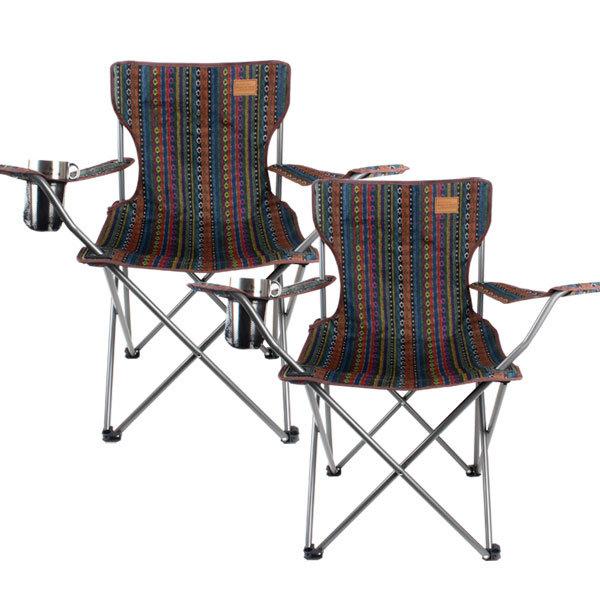 벅703 페어아일 캠핑의자 팔걸이, 혼합 색상, 2개입