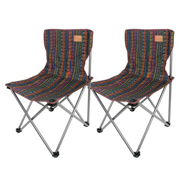 벅703 페어아일 캠핑의자, 혼합 색상, 2개입