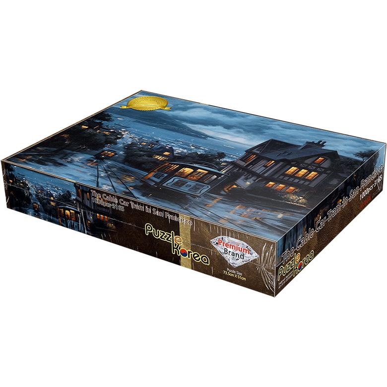 퍼즐코리아 비 온뒤의 거리 직소퍼즐, 1000피스, 혼합 색상
