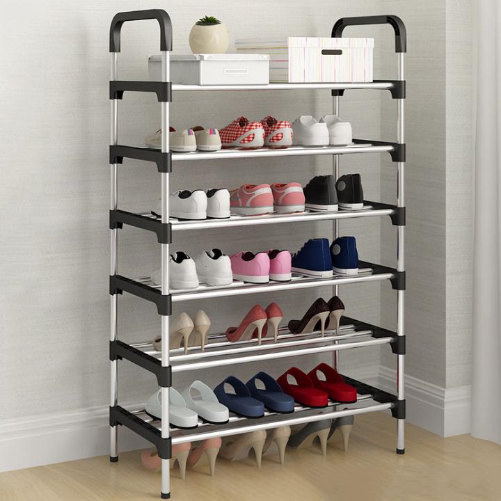 멜팅홈 간단 조립형 신발정리대 6층, 블랙