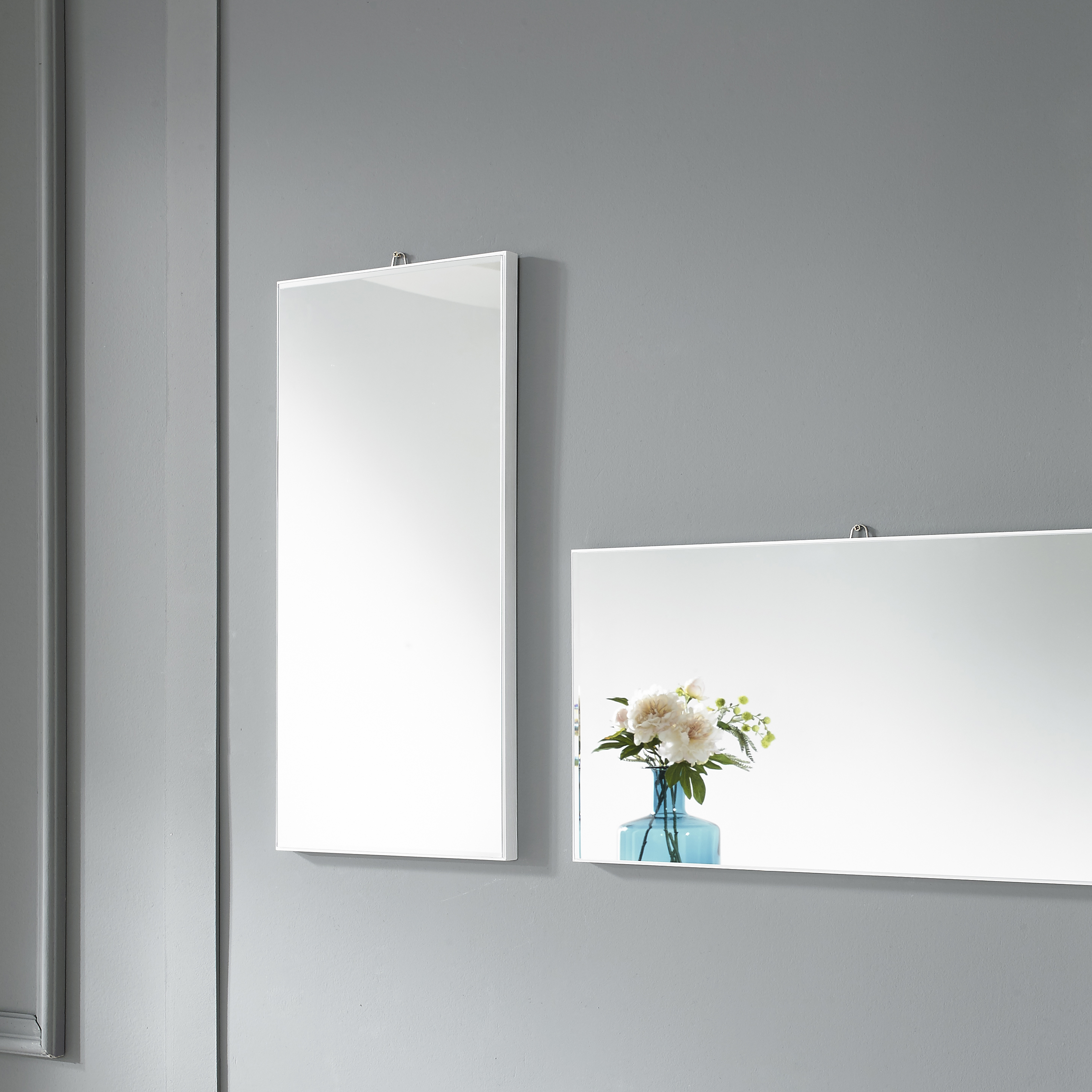 미소아이 가로세로 욕실겸용 모던 벽거울 600, 화이트