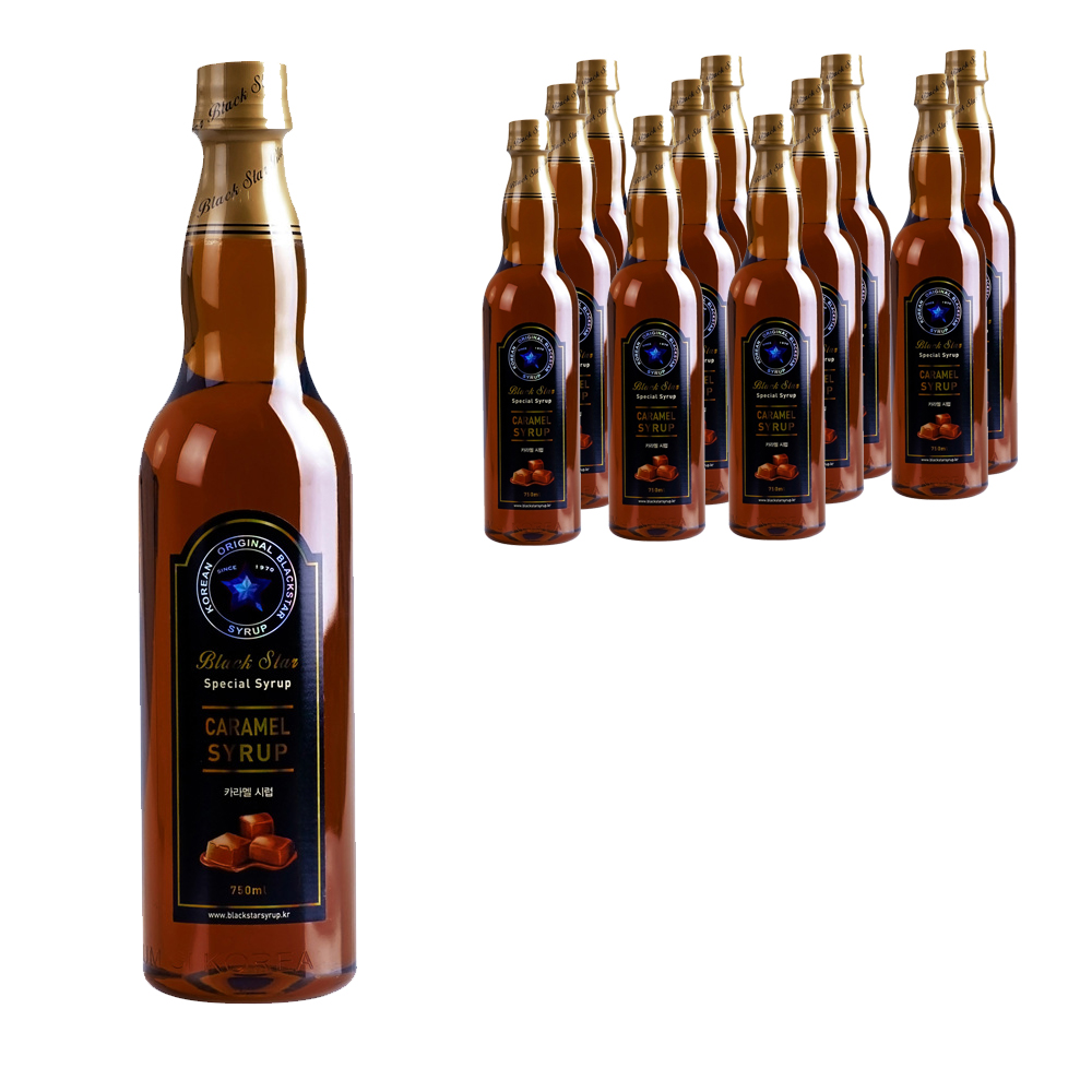 블랙스타 카라멜 시럽, 750ml, 12개입
