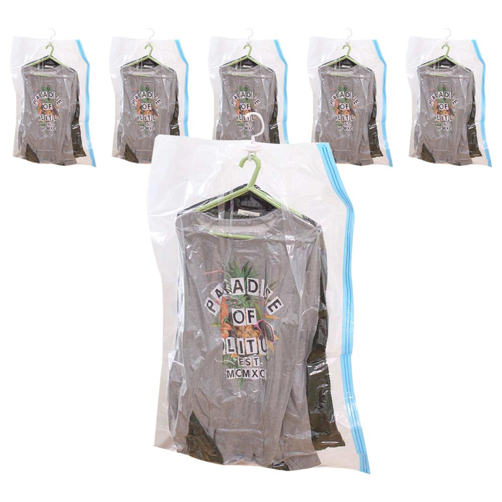 가쯔 밸브형 옷걸이 압축팩 양복, 1개입, 6개