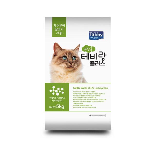 서울사료 테비랑 플러스 고양이 사료 유산균, 5kg, 1개
