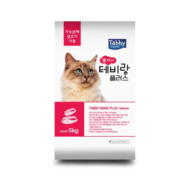 서울사료 테비랑 플러스 고양이 사료 연어, 5kg, 1개