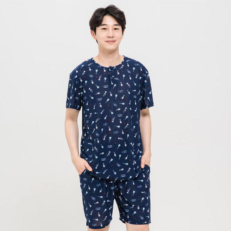 [여름파자마] 도씨 남성용 네이처마 반팔 잠옷 상하세트 - 랭킹69위 (12900원)