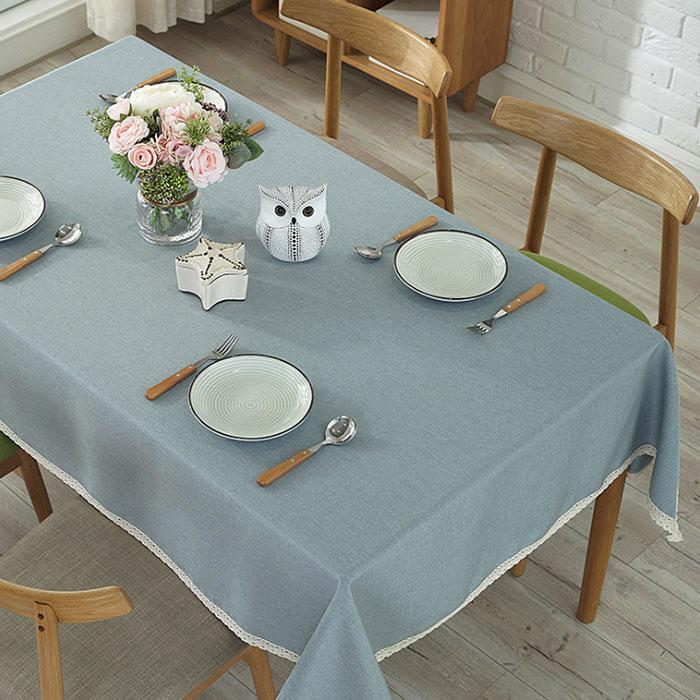 앤티스 모던풍 언더레이스 식탁보, 스카이블루, 가로 100cm x 세로 140cm