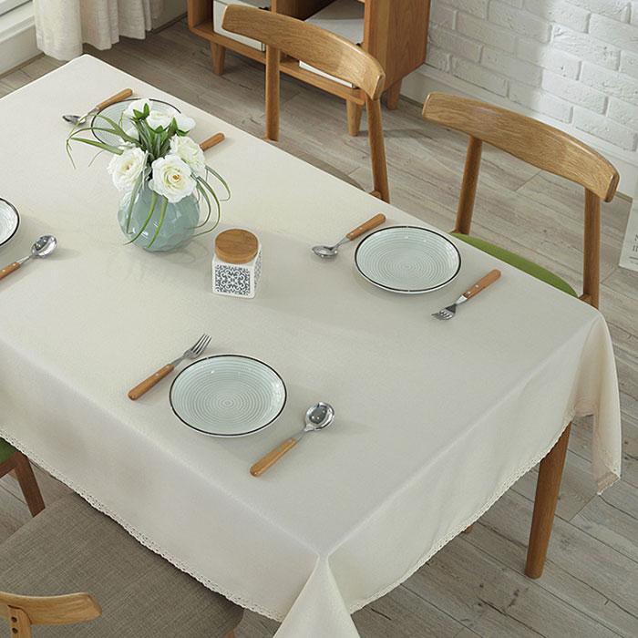 앤티스 모던풍 언더레이스 식탁보, 아이보리, 가로 100cm x 세로 140cm