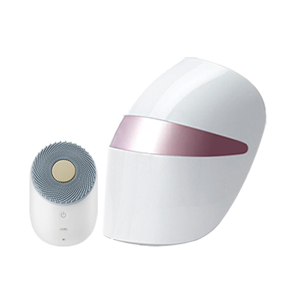 프라엘 초음파 진동클렌저 + 더마LED마스크, 클렌저(BCK1), 마스크(BWJ1), 클렌저(화이트골드), 마스크(스틸핑크)