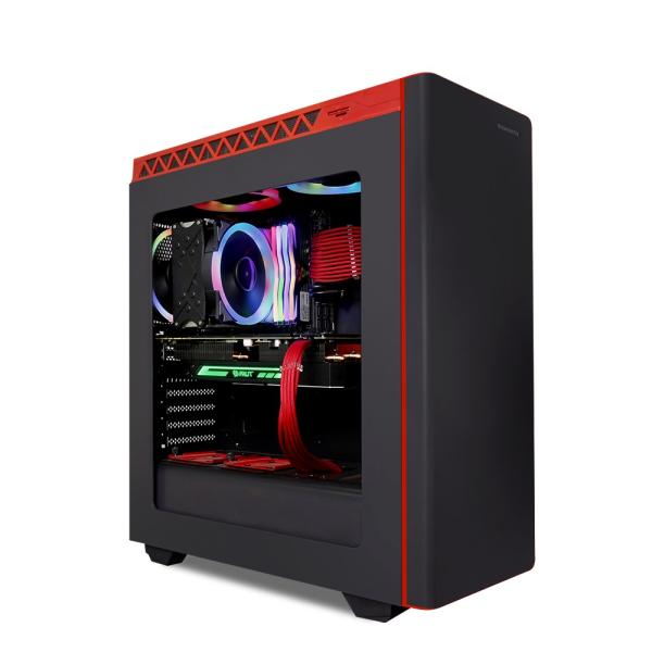한성컴퓨터 데스크탑 BossMonster DX9727T 블랙 (9세대 i7-9700K WIN미포함 8GB SSD 500GB 정격 700W), RTX2070