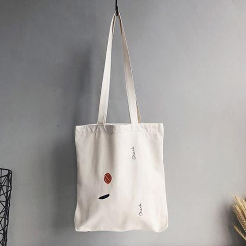 하라몰 오랑쥬 숄더 캔버스 에코백