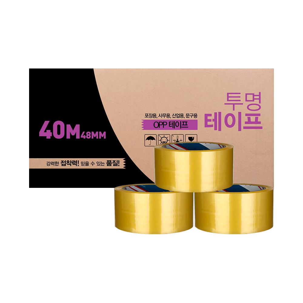 대박테이프 투명 박스테이프 48mm x 40m, 50개입