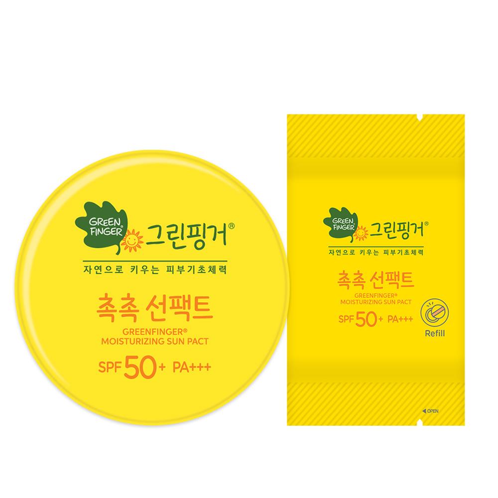 그린핑거 촉촉 유아 선팩트 SPF50+ PA+++ 본품 16g + 리필 16g, 1세트