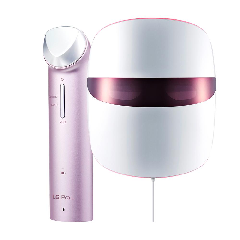 LG전자 프라엘 핑크V 피부개선관리 세트 LED 마스크 BWJ1V + 갈바닉 이온 부스터 마사지기 BBJ1V, BBJ1V, BWJ1V, 스틸 핑크
