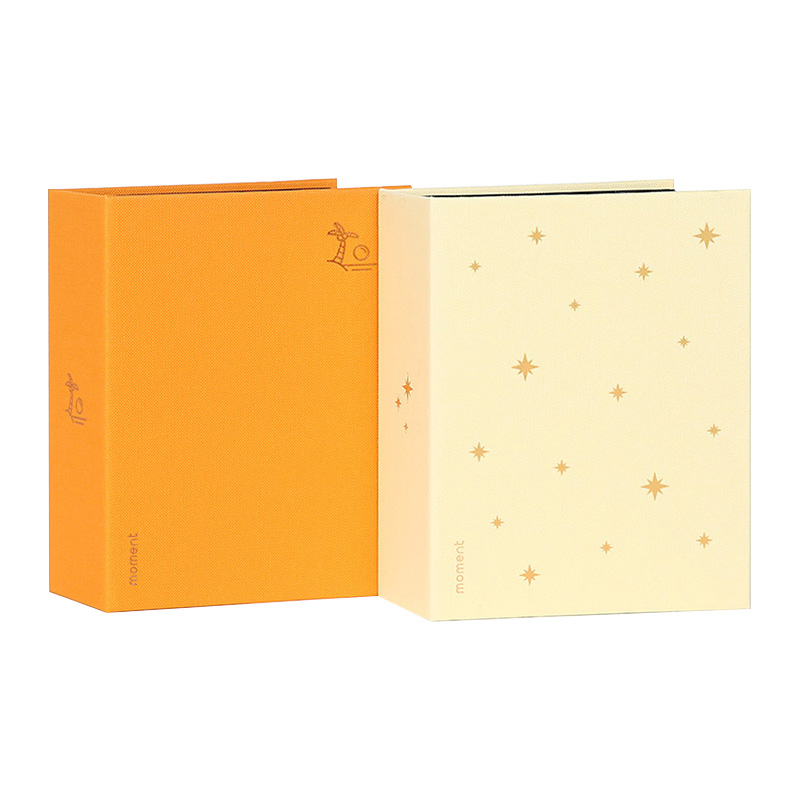 디자인웁스 모멘트 포토앨범 100 2p 세트, 아이보리, 오렌지, 50매