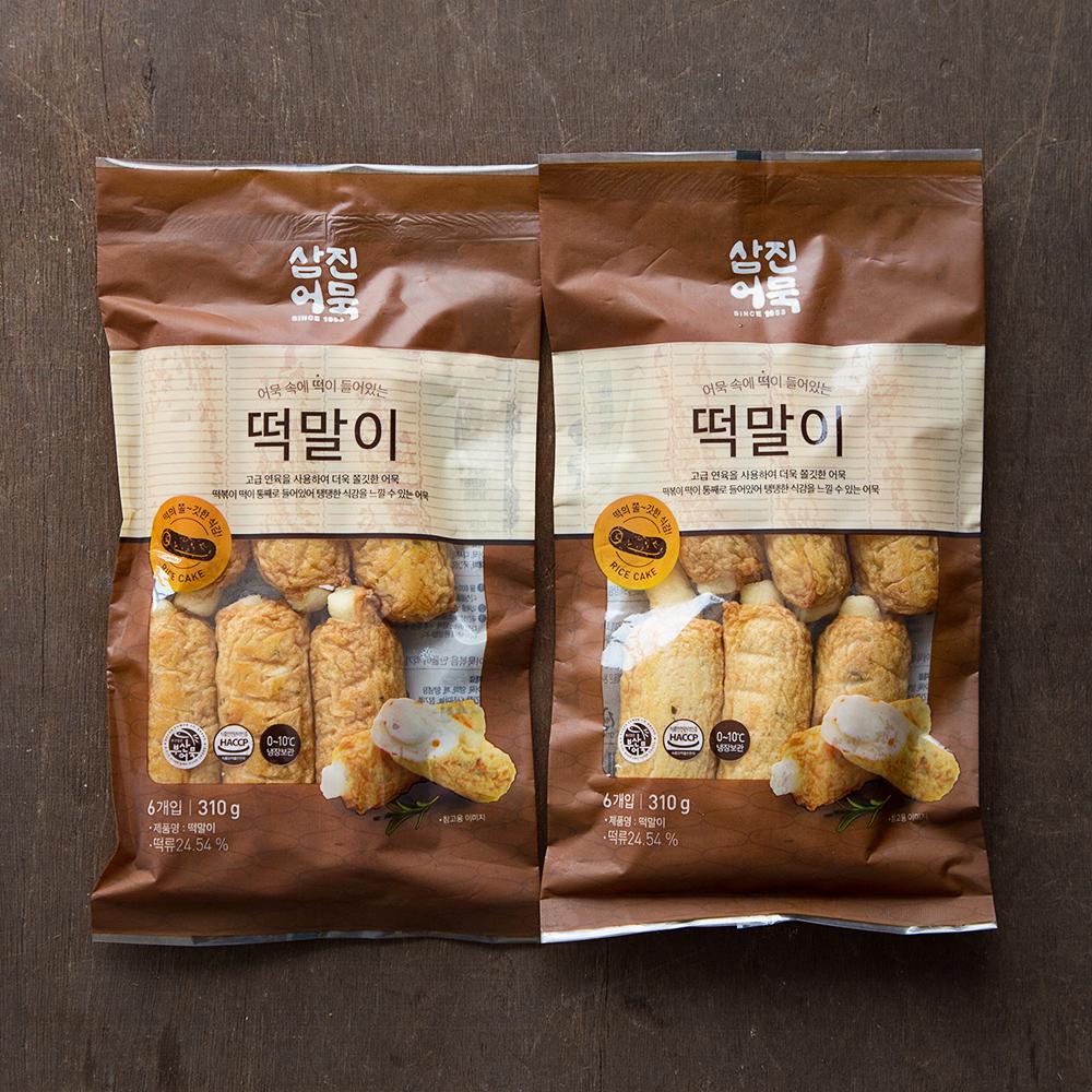 삼진어묵 떡말이, 310g, 2개