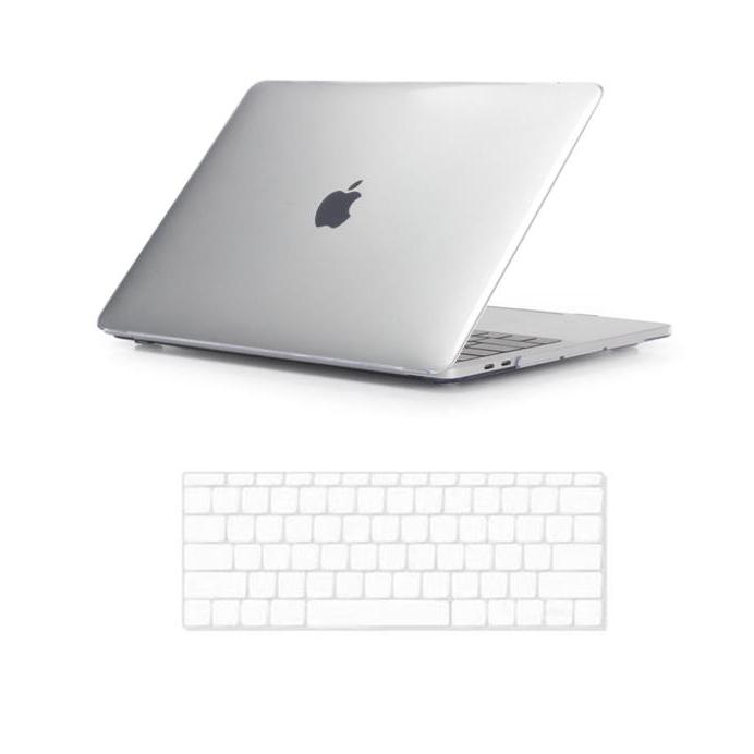 뉴비아 맥북용 키스킨 투명 + 크리스탈 하드케이스 투명 맥북뉴프로13터치 A1989, 혼합 색상, 1세트