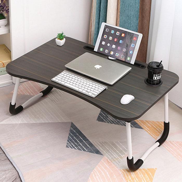 엠지 접이식 노트북 테이블 고급형, 블랙