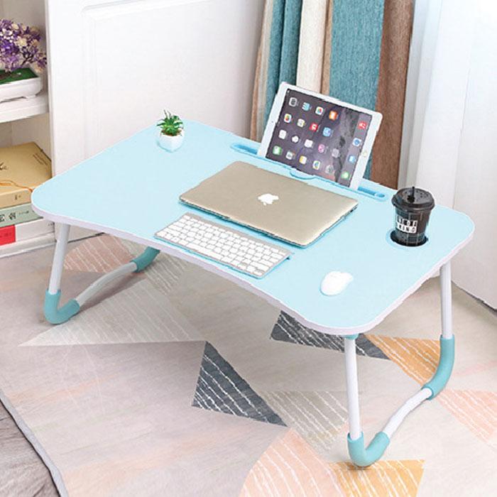 엠지 접이식 노트북 테이블 고급형, 블루