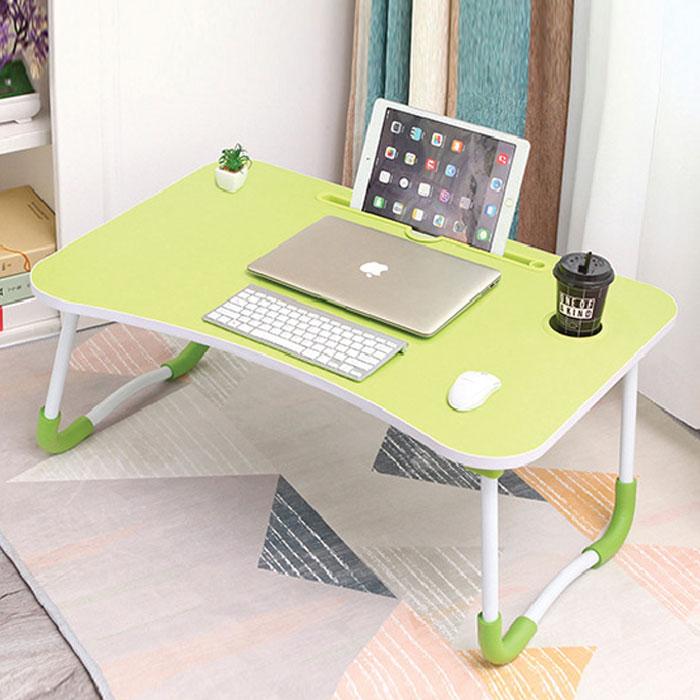 엠지 접이식 노트북 테이블 고급형, 그린