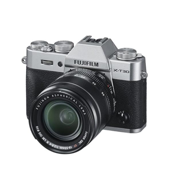 후지필름 미러리스 X-T30 카메라 + XF18-55mmF2.8-4 R LM OIS 렌즈 키트, X-T30(실버)