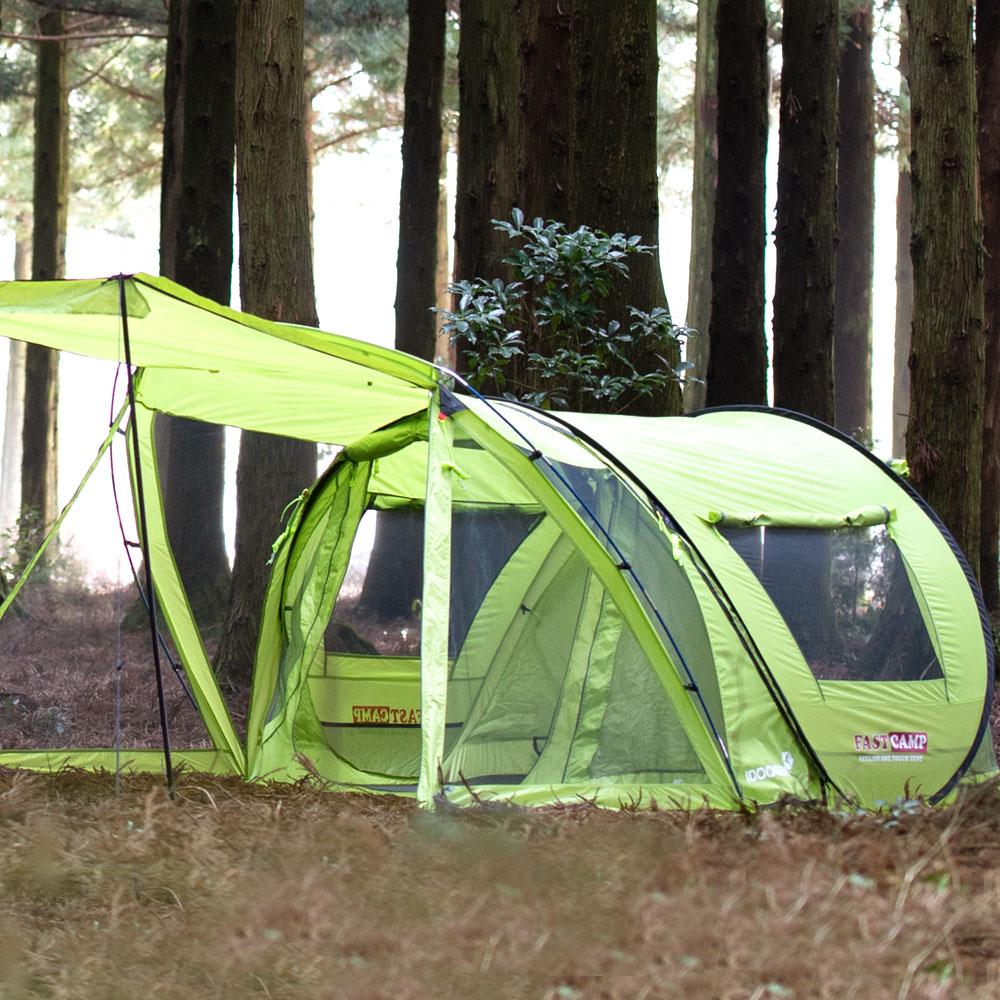 패스트캠프 테라4 아웃돔 원터치 텐트, 올리브그린, 5~6인용