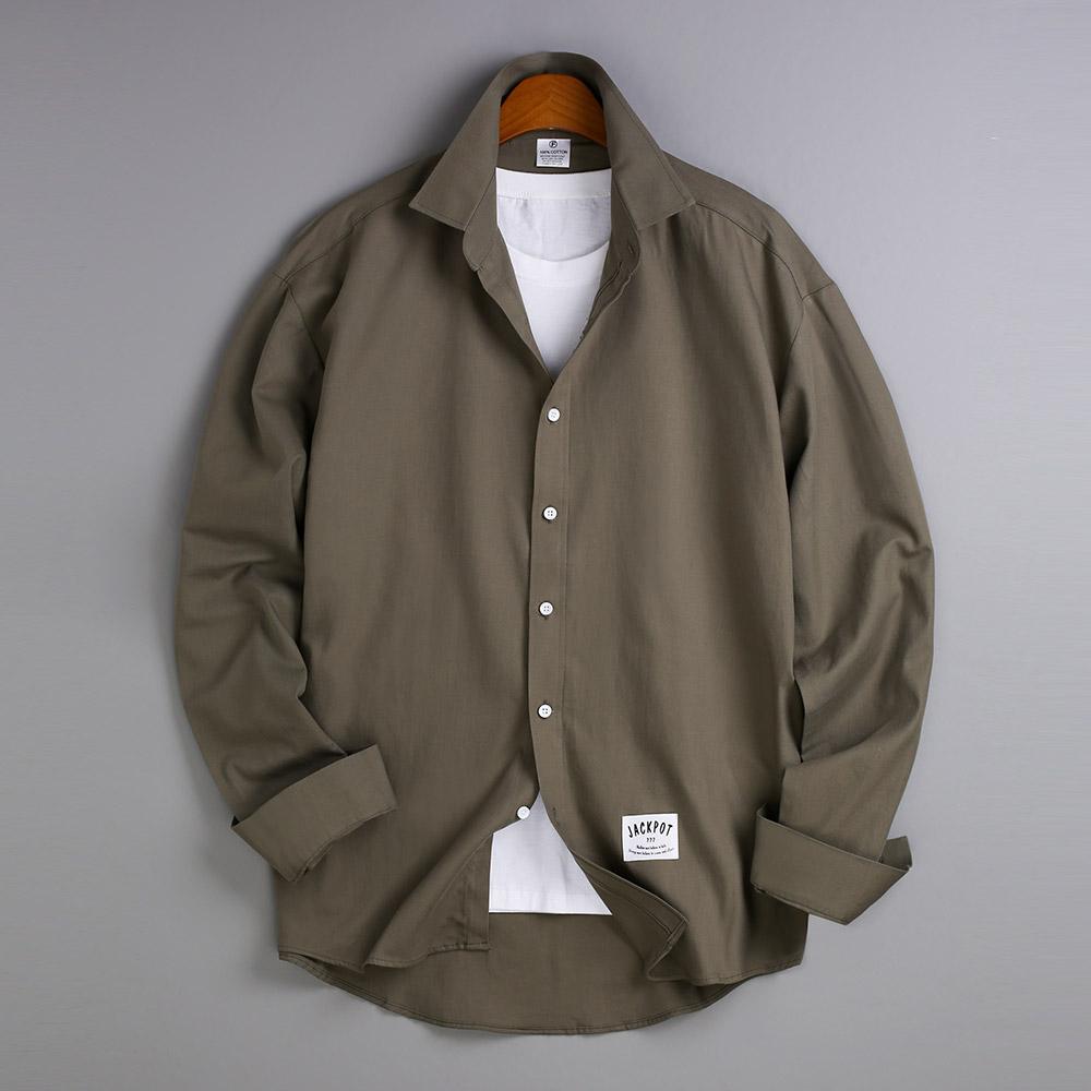고스트리퍼블릭 남성용 오버핏 베이직 긴팔 셔츠 MSH-534