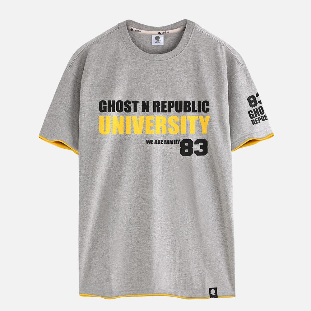 고스트리퍼블릭 레터링 레이어드 반팔 티셔츠 GT-310