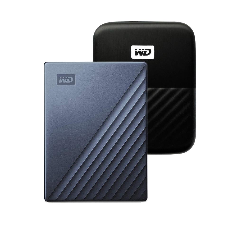 WD My Passport Ultra Type C 휴대용 외장하드 + 파우치, 2TB, 블루