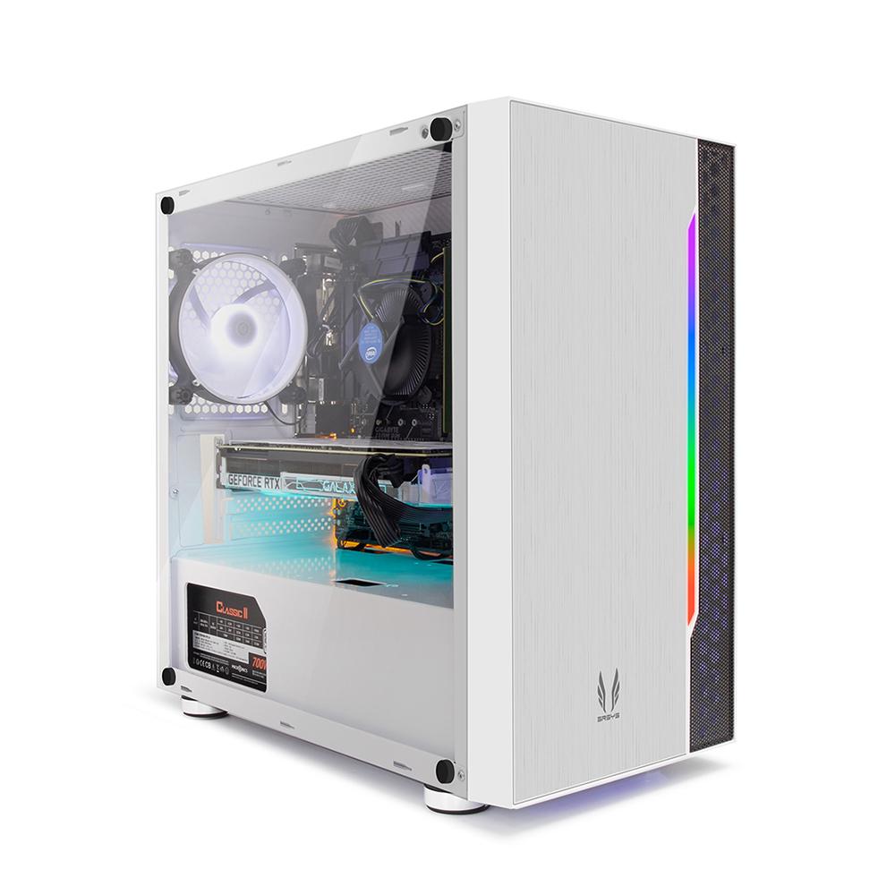 프리플로우 GAMING i5F RTX2060 화이트 조립PC (i5 9400F WIN미포함 삼성16GB RTX2060 6GB SSD240GB), 단일 상품, 기본형