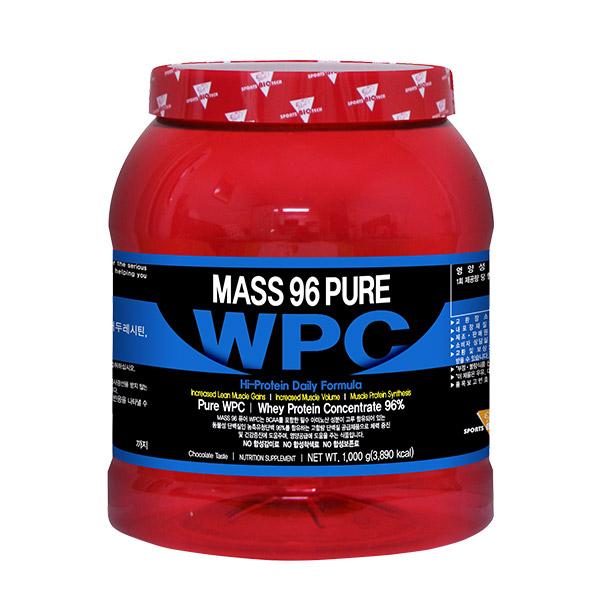매스96 퓨어 WPC 단백질 보충제 프로틴 초코맛, 1000g, 1개