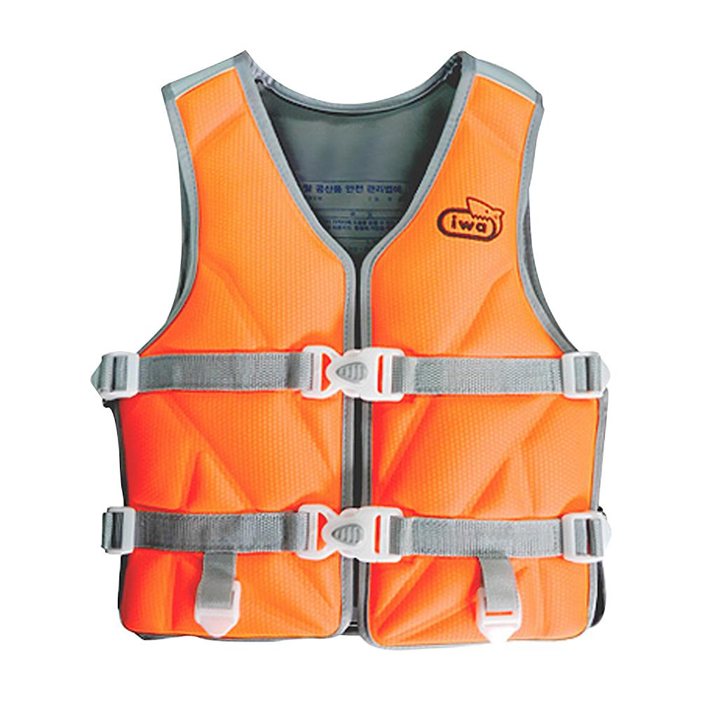 아이와 수영조끼 55kg, 형광주황색