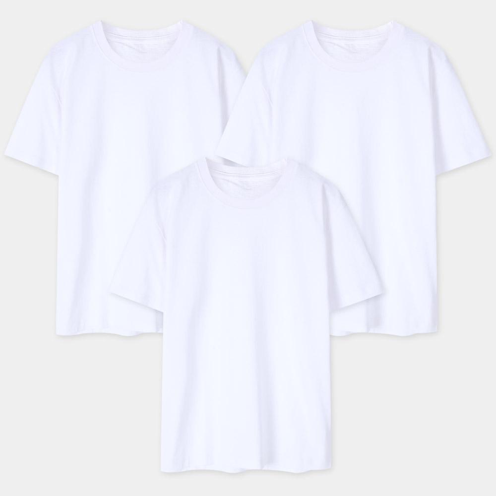 엑셀레이터 남성용 순면 라운드 반팔 티셔츠 3p 세트