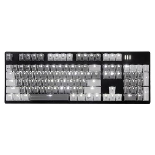 앱코 HACKER 카일 광축 완전방수 축교환 크리스탈 키캡 리니어 기계식키보드, K8900V1, 블랙 + 어반그레이