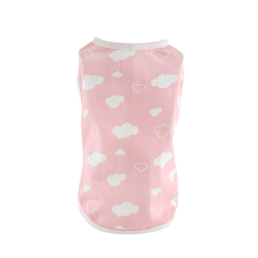 도그아이 강아지옷 구름 티셔츠, 핑크
