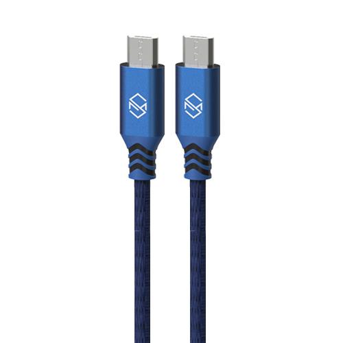 신지모루 더치 패브릭 5핀 고속충전 케이블 2m, 블루, 2개입