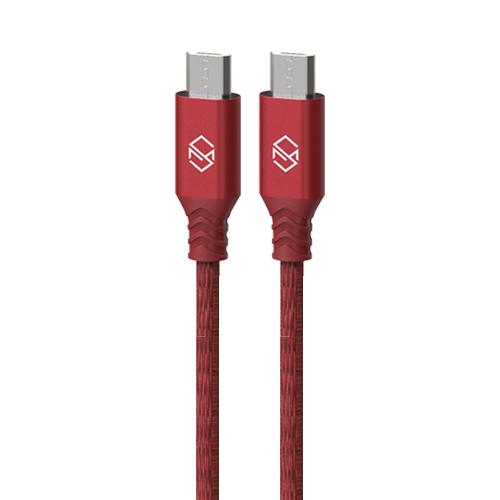 신지모루 더치 패브릭 5핀 고속충전 케이블 2m, 레드, 2개입