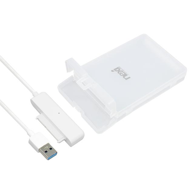넥시 USB3.0 HDD SSD 외장하드 케이스 NX-U218U30, NX-U218U30(화이트)
