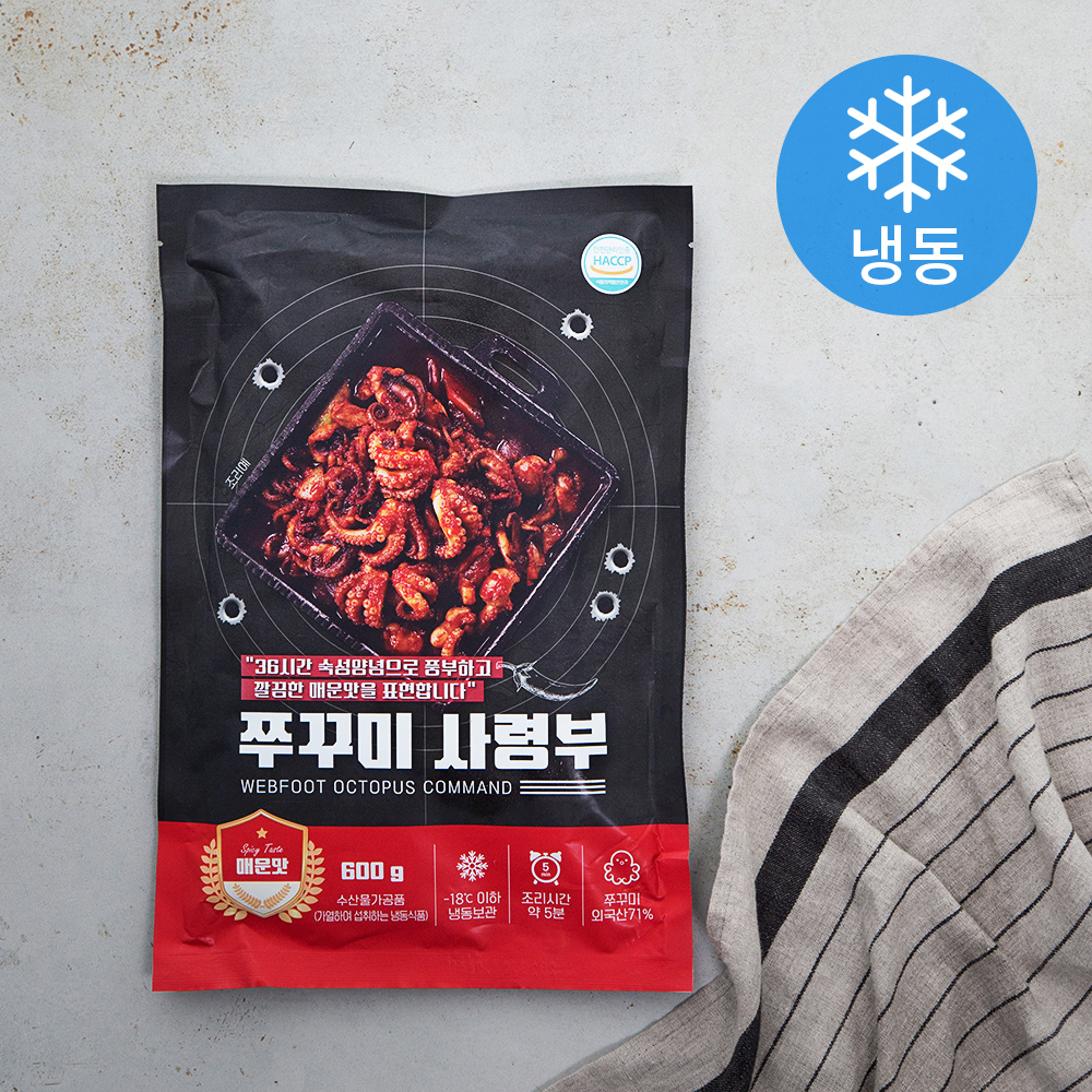 쭈꾸미 사령부 매운맛 (냉동), 600g, 1개