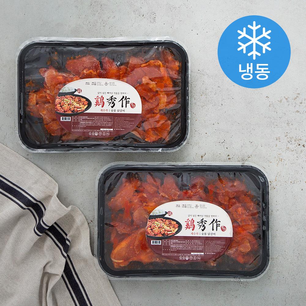 계수작 숯불 닭갈비 (냉동), 400g, 2개