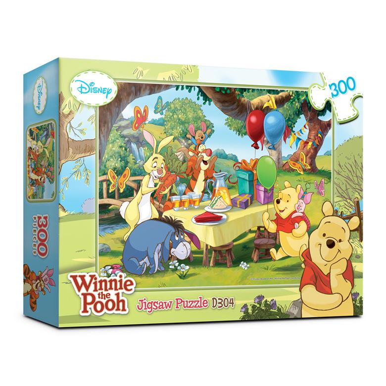 퍼즐라이프 디즈니 곰돌이 푸우 직소퍼즐 빅 D304, 300피스, 혼합 색상