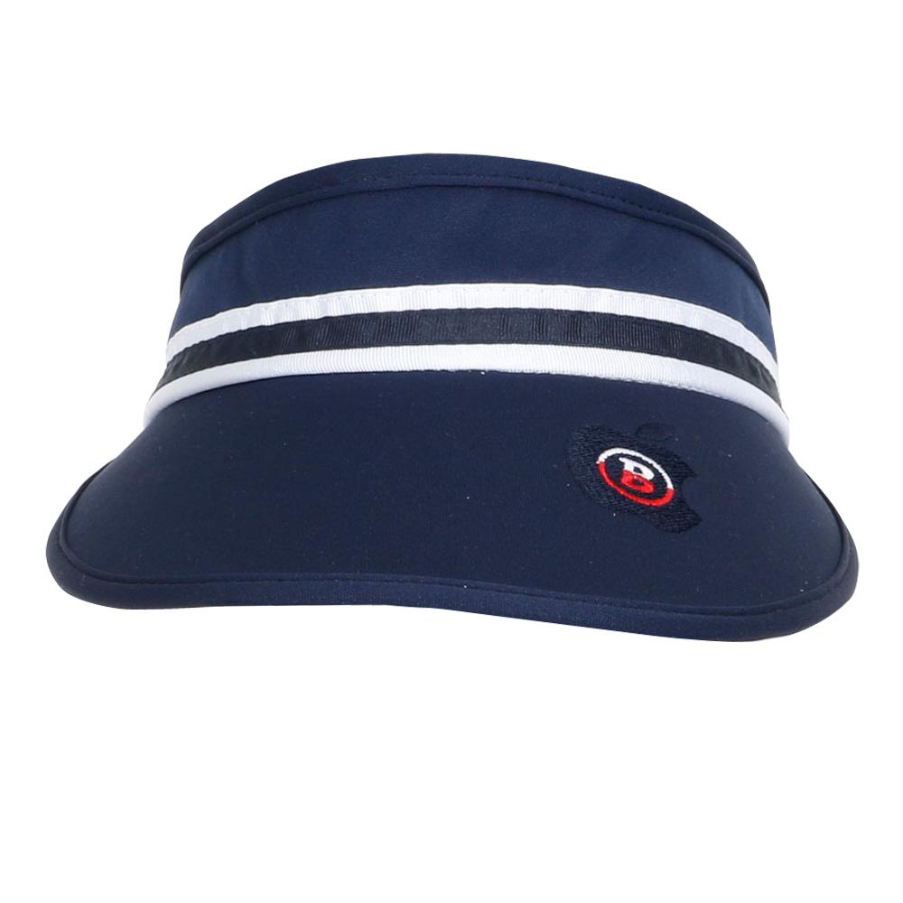 비엠유 여성용 라인 테이프 모자 HABU3009, 네이비