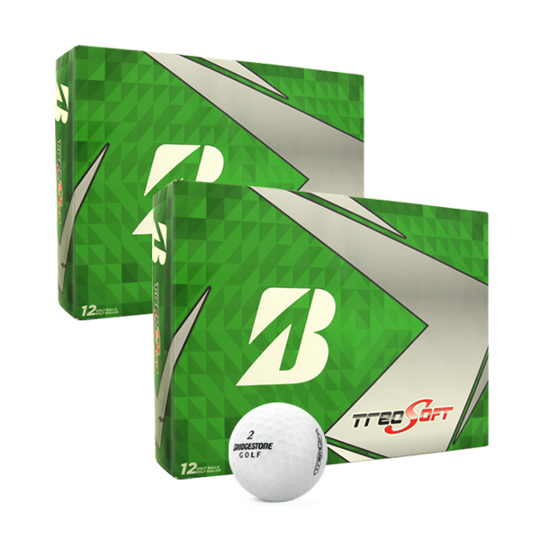 브리지스톤 NEW 트레오 소프트 골프공 2피스 12p, 화이트, 2개
